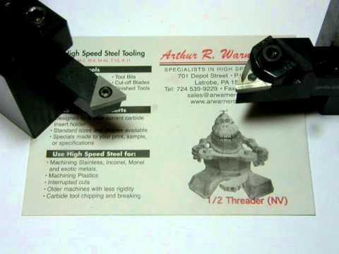 High Speed Steel Lathe tooling.AVI