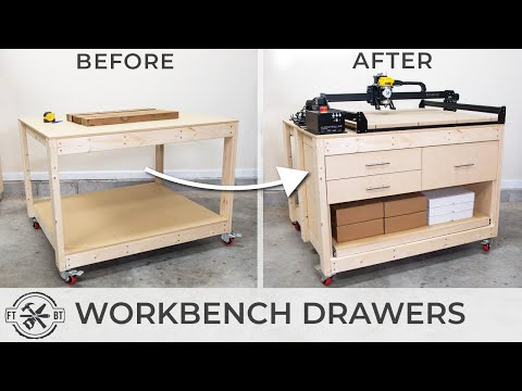 Simple Way to Add Drawers to Any Workbench | How To