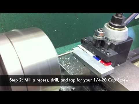 Making a Tailstock Dial Indicator Stop for a Grizzly G0602 Lathe